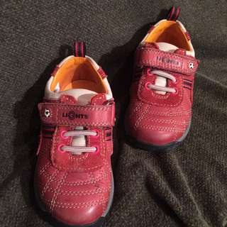 Baby Shoes - Clarks First Shoes - Red Leather