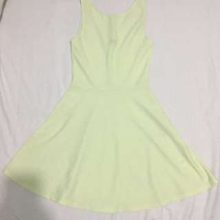 H&M Light Yellow Dress