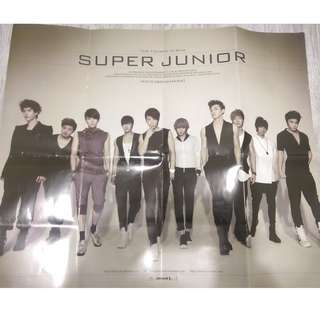Super Junior Bonana Folded Poster