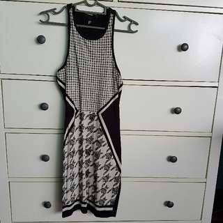 H&M Houndstooth Mini Party Dress