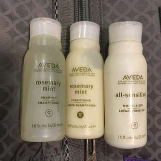 Aveda 洗頭水,護髮素, lotion