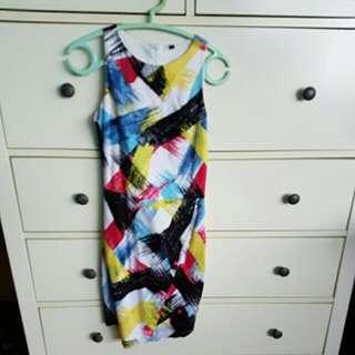 Paintstrokes Multi-coloured Mini Dress