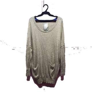 Beige long sweater
