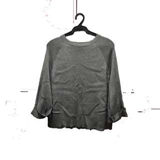 Grey soft knitted sweater