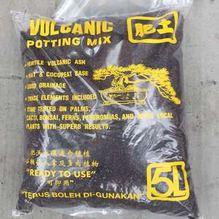 Volcanic potting mix 5 lites pack( ready to use)