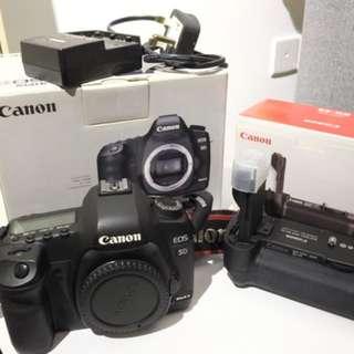 Canon 5D mark 2 + Canon Speedlite 580EX II + battery grip