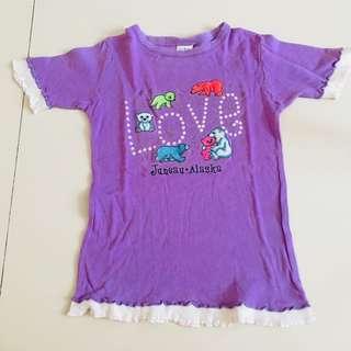 Purple alaska shirt sz 7-8yr