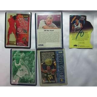 NBA球卡 1990年代 西雅圖超音速 SHAWN KEMP, GARY PAYTON, 5張合賣, 不含運