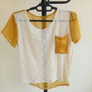 Baju Brokat Kuning Bkk