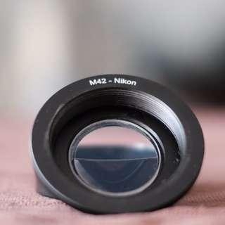 M42 to Nikon F mount
