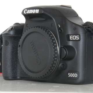 Canon DSLR 500d Body only + Battery Grip
