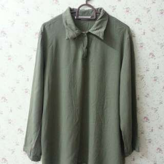 Peace Army Green Top