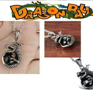 2017/2018 New Fashion Jewelry Men stainless steel lucky Chinese Dragon Ball pendant necklace