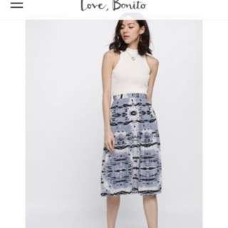 Love Bonito Sehika printed Pleated skirt