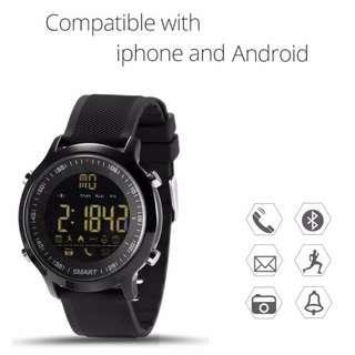 【全防水】智能手錶 Smart Watch - Whatsapp wechat 提示 / 來電提示 / 計步 / 卡路里/遙控相機/鬧鐘 / 藍牙 Bluetooth Waterproof Smart Watch Pedometer Sleep Monitor Message and Call Reminder For Samsung Android iPhone IOS