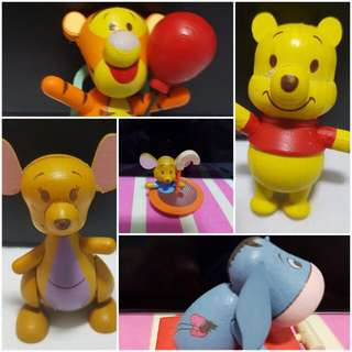 Winnie the Pooh at $10 each -# 1 Classic Pooh, #2 Classic Tigger, # 4 Classic Kanga, # 6 Party Tigger, # 7 Party Eeyore,  #8 Party piglet, # 12 Forest Roo