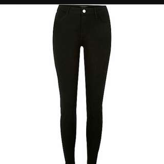 🚚 BLACK BASIC HIGH WAISTED JEANS [ INSTOCK ]