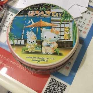🚚 Hello kitty圓形⭕️收納鐵盒