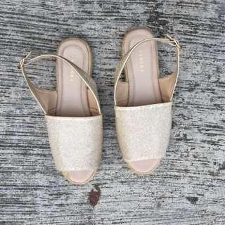 Vince Glitter flat shoes