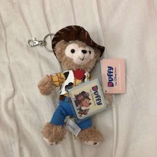 🚚 香港迪士尼 Disney Duffy Woody 達菲 胡迪 鑰匙圈