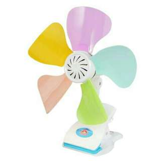 Strong Wind Colorful 5 Blade Portable Fan