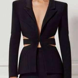 Mocha collection cut out blazer