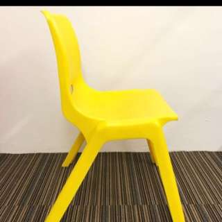 Stackable durable plastic chairs