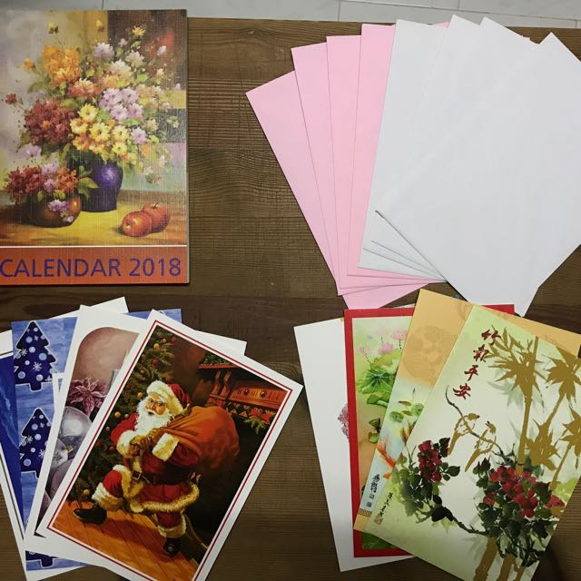 2018 Calender Xmas And Cny Greeting Cards Books Stationery Stationery On Carousell
