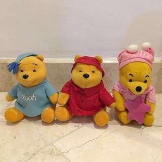 Boneka winnie the pooh set
