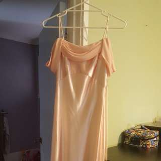 NWOT WITH DEFECT JESSICA MCCLINTOCK PALE PINK STRAPPY DRESS (SIZE 8 US)