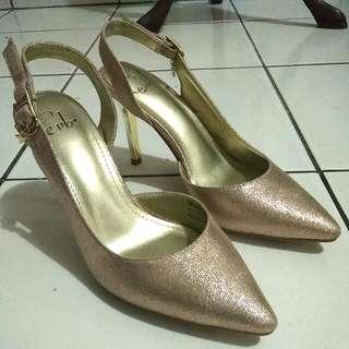 Gold Calixta Signature Evb High Heels Everbest