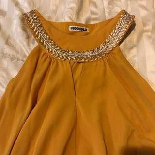 Mooska mustard maxi dress