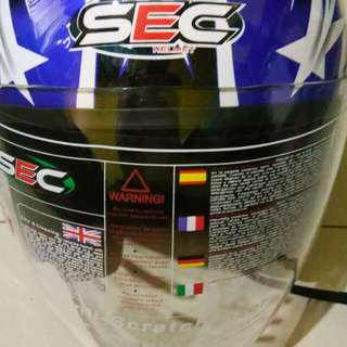 Authentic SEC Half Face Helmet 100%Original