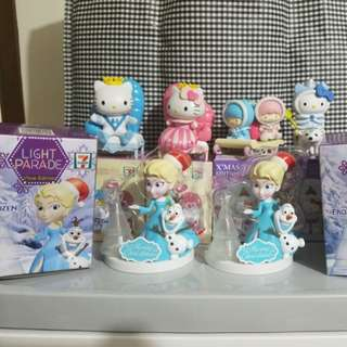 7-11 限量版 Hello Kitty Frozen Elsa Little Twins Star