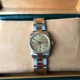 96% new rolex junior twotone oyster 31mm