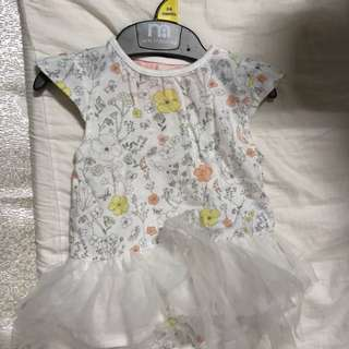 🚚 mothercare 包屁衣洋裝 3-6 month