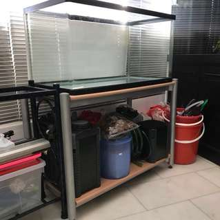 3ft fish tank stand only 52x103x73cm (without tank. Location:Bukit Batok 650524)
