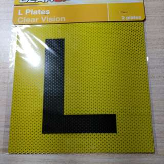 Learner & Red P Plates Clear Vision Sticker