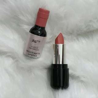 Ashley Champagne Coral Pink Lipstick Matte