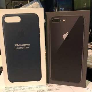 IPhone 8 Plus Space gray 256G w Apple case