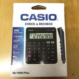 (全新)未開CASIO MJ-100D Plus計算機