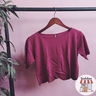 Red scallop top