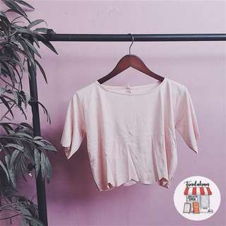 Pink scallop top
