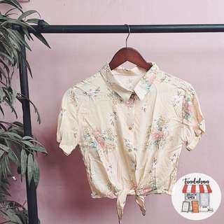 Floral tie down shirt