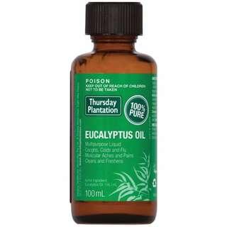 (In Stock)Thursday Plantation Eucalyptus Oil (100ml)尤加利純精油