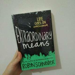 EXTRAORDINARY MEANS buku inggris baru