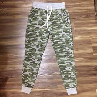 Bershka Men's Camo Jogger Pants