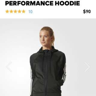 Adidas black performance hoodie size XS Free postage