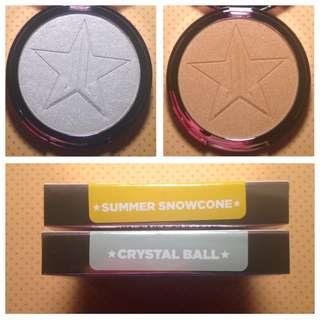 Jeffree Star Cosmetics Skin Frost (Summer Chrome Collection) CRYSTAL BALL, SNOWCONE $30 EACH *AUTHENTIC + NEW*