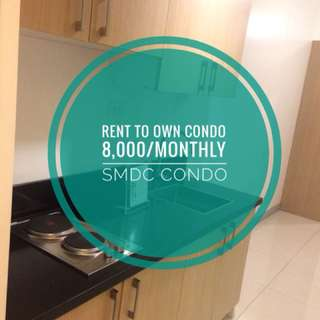 8,000 Monthly! No Downpayment! Rent to own condo!